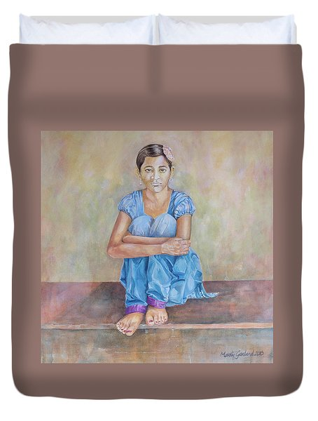 Nepal Girl 4 Duvet Cover