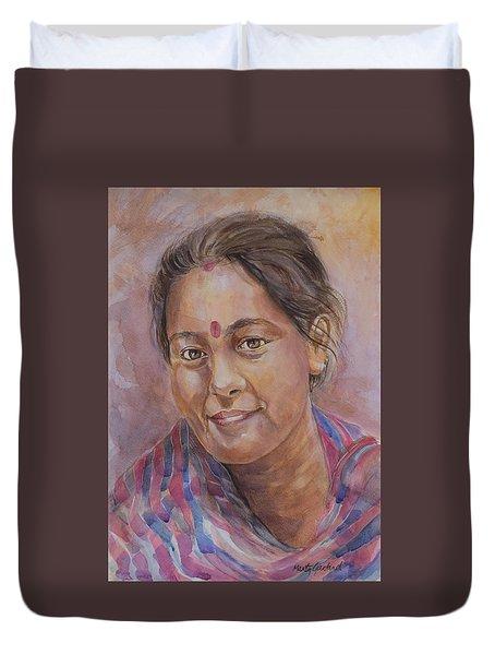 Nepal Girl 6 Duvet Cover