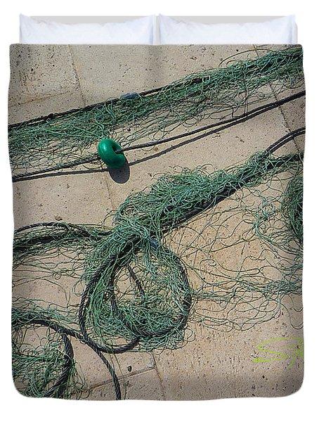 Neptune Green Duvet Cover