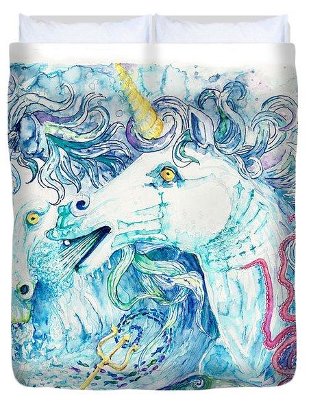 Neptune's Horses Duvet Cover by Melinda Dare Benfield