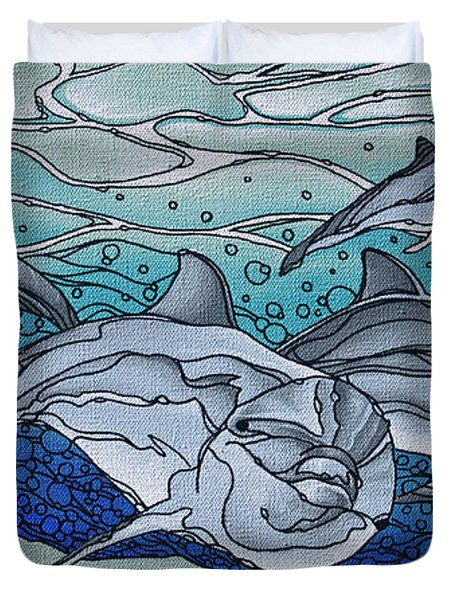 Nereus' Guardians Duvet Cover