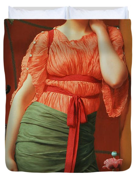 Nerissa Duvet Cover by John William Godward