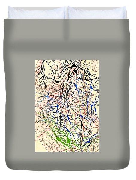 Nerve Cells Santiago Ramon Y Cajal Duvet Cover