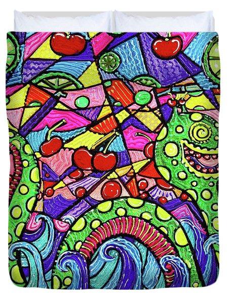 Nessie Loves Cherry Limeade Duvet Cover