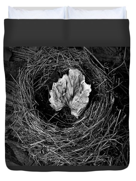 Nest In Time Black And White Duvet Cover