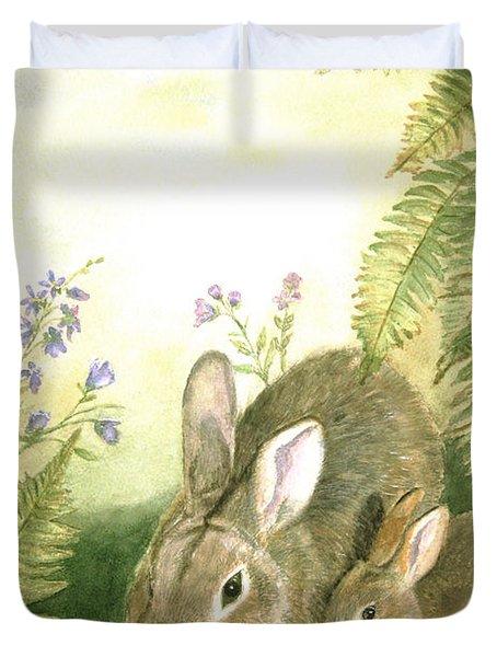 Nesting Bunnies Duvet Cover