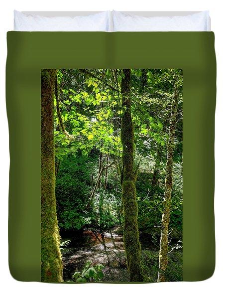 Nestucca River 3039 12x18 Duvet Cover