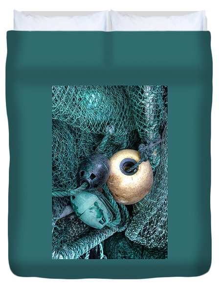 Nets And Buoys Duvet Cover by Lynn Jordan
