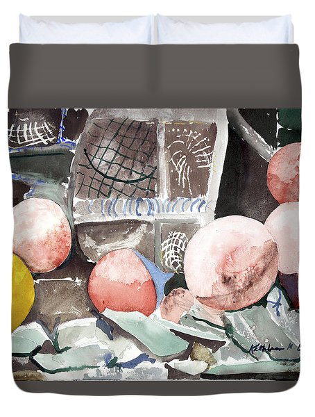 Nets And Floats Duvet Cover