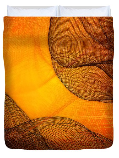 Netted Orange Duvet Cover by Constance Krejci