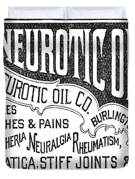 Neurotic Vintage Ad Duvet Cover by Marianne Dow