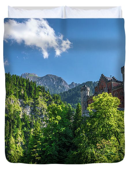 Neuschwanstein Castle Duvet Cover