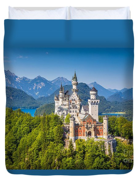 Neuschwanstein Fairytale Castle Duvet Cover