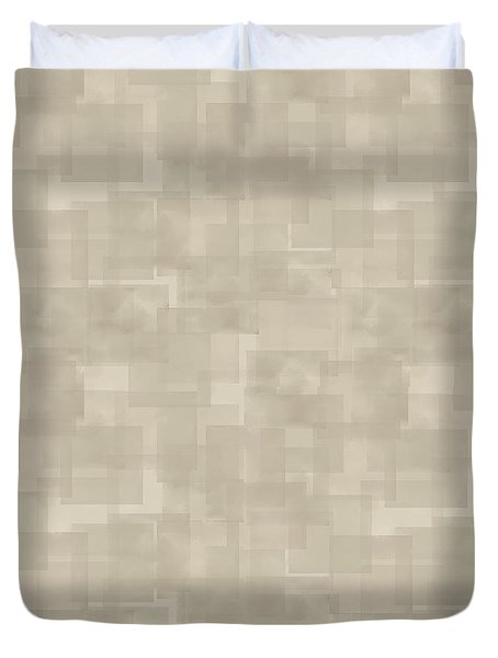 Neutral Brown Abstract Pattern Duvet Cover