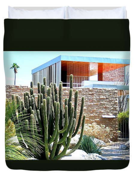 Neutra's Kaufman House 2 Duvet Cover by Randall Weidner