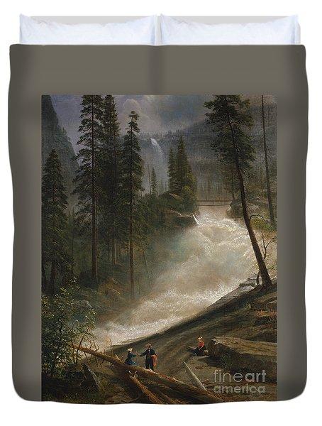 Nevada Falls Yosemite                                Duvet Cover by John Stephens