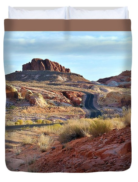 Nevada Rocks 1b Duvet Cover