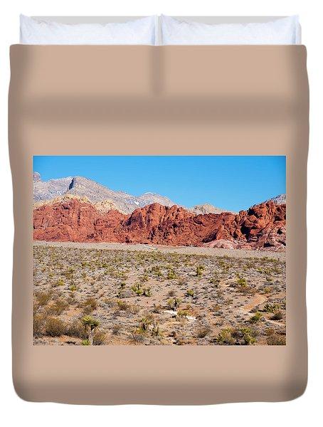Nevada's Red Rocks Duvet Cover by Rae Tucker