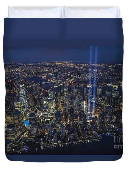 Never Forget-an Aerial Tribute Duvet Cover