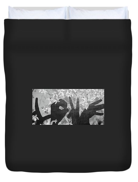 Duvet Cover featuring the photograph Never Forget by Juergen Weiss