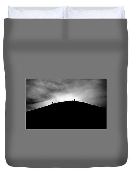 Duvet Cover featuring the photograph Never Give Up by Pradeep Raja Prints