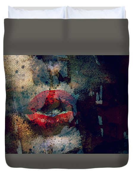 Duvet Cover featuring the painting Never Had A Dream Come True  by Paul Lovering