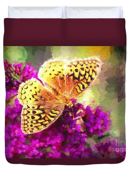 Never Hide Your Wings Duvet Cover by Tina LeCour