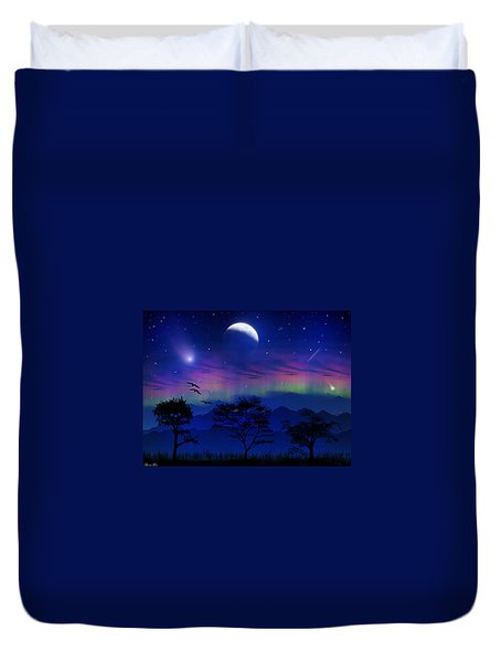 Duvet Cover featuring the photograph Neverending Nights by Bernd Hau