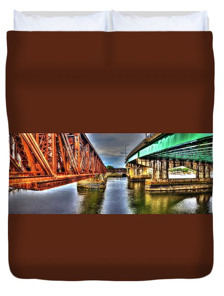 New And Old Bridge Duvet Cover
