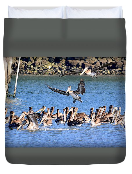 Duvet Cover featuring the photograph New Arrivals by AJ Schibig