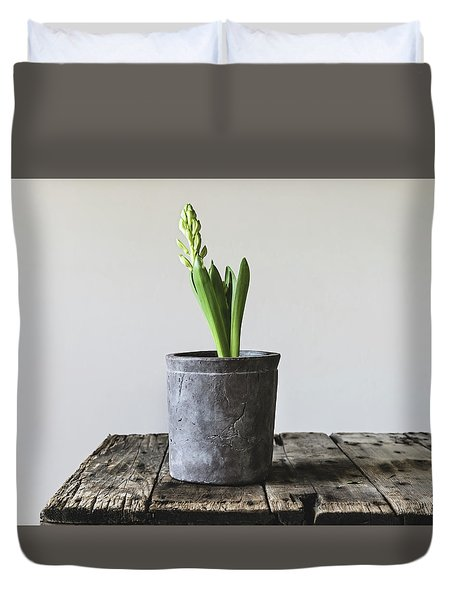 Duvet Cover featuring the photograph New Beginings by Kim Hojnacki