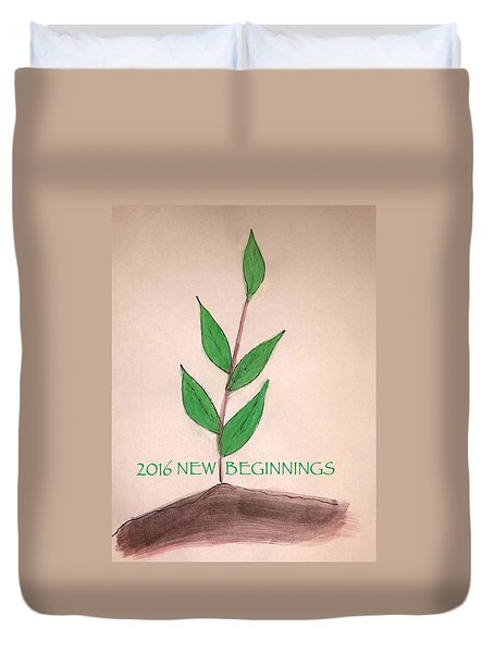 New Beginnings 2016 Duvet Cover