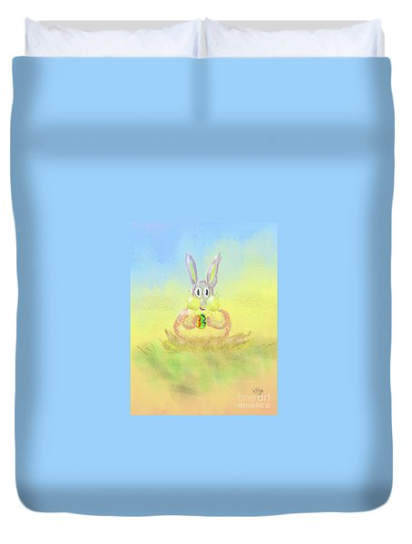Duvet Cover featuring the digital art New Beginnings by Lois Bryan