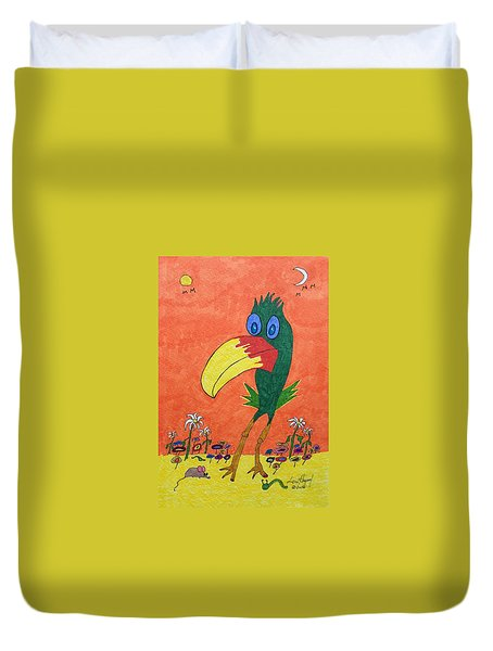 New Bird On The Block Duvet Cover