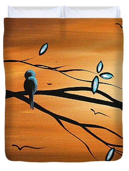 New Bloom By Madart Duvet Cover by Megan Duncanson