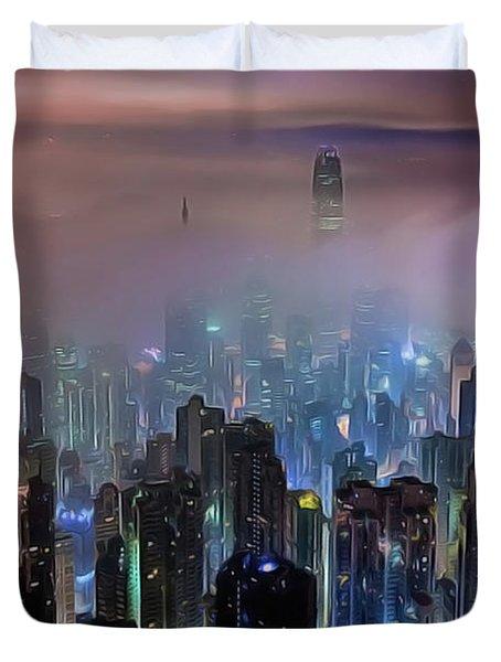 New City Skyline Duvet Cover