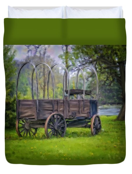 Duvet Cover featuring the photograph New Convertable by Mary Timman