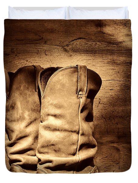 New Cowboy Boots Duvet Cover
