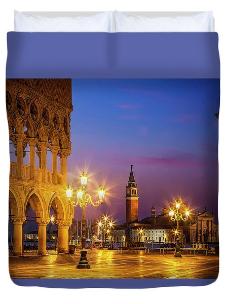 New Day At St. Marks Duvet Cover