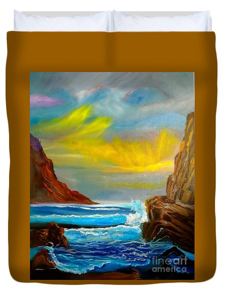New Day In Paradise Duvet Cover