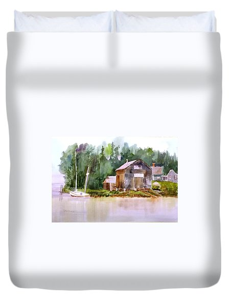 New England Boat Repair Duvet Cover