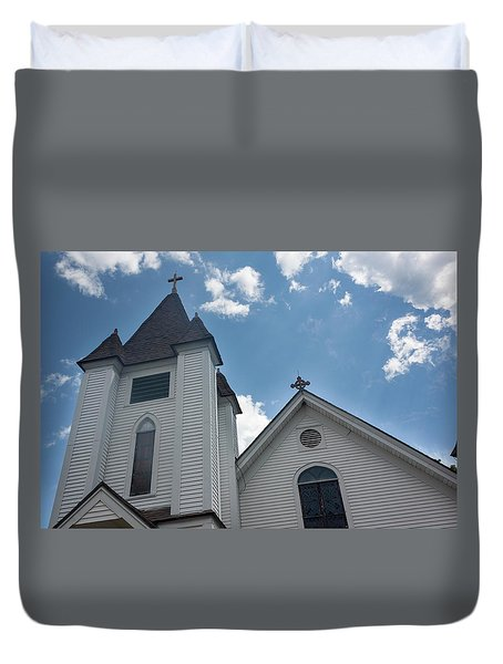 New England Church Duvet Cover by Suzanne Gaff