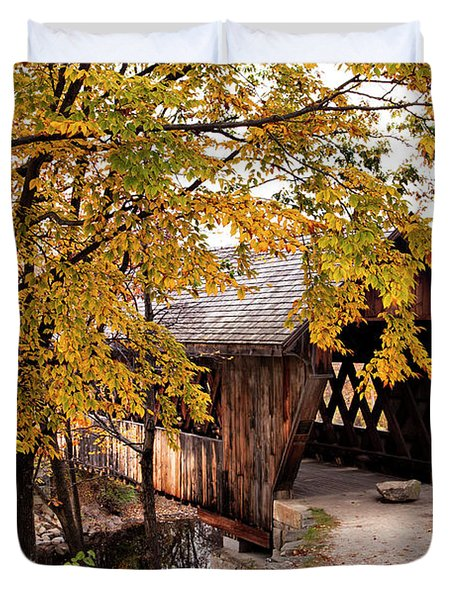 New England College No. 63 Covered Bridge  Duvet Cover
