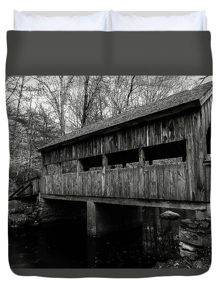 New England Covered Bridge Duvet Cover