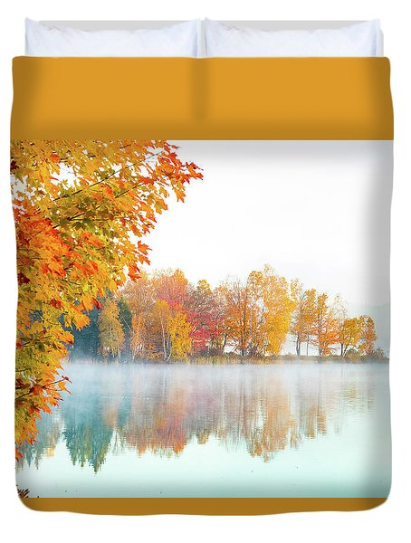 New England Fall Colors Of Maine Duvet Cover