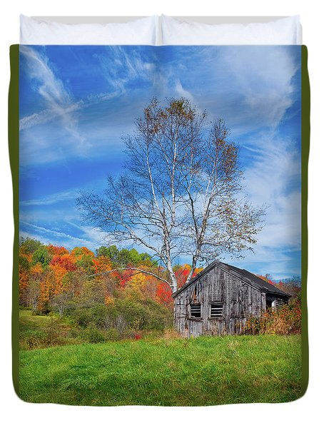 New England Fall Foliage Duvet Cover