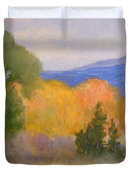 New England Fall Duvet Cover