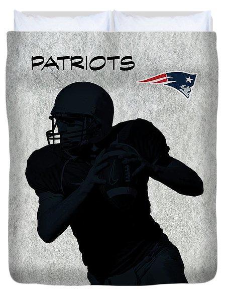 New England Patriots Football Duvet Cover by David Dehner