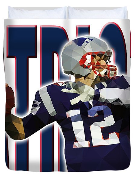 New England Patriots Duvet Cover by Stephen Younts