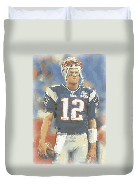New England Patriots Tom Brady Duvet Cover